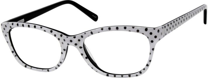 5733c6a1f9d Black   White polka dot prescription glasses
