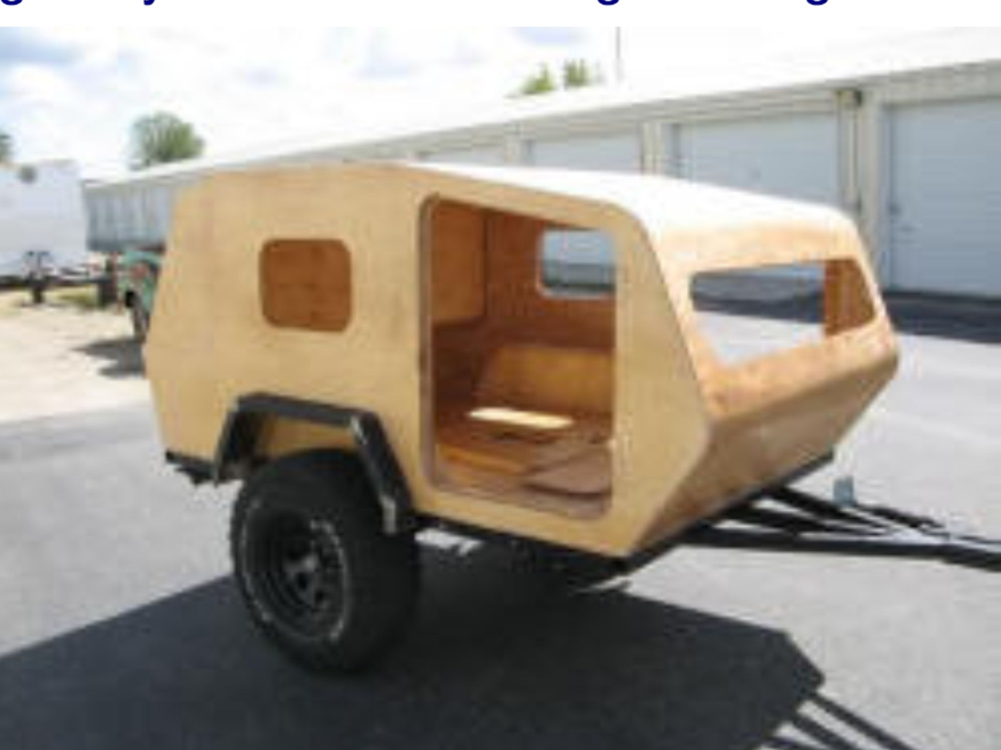 Homemade Off Road Camper Trailer Plans - Year of Clean Water