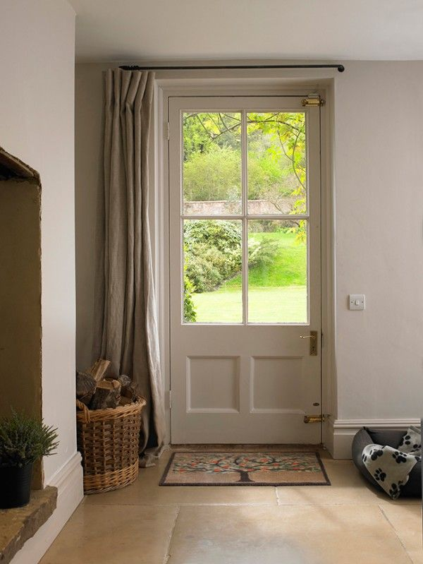 4 Uses For Drapes Other Than Windows Nesting Place Front Door Curtains Glass Front Door Front Door