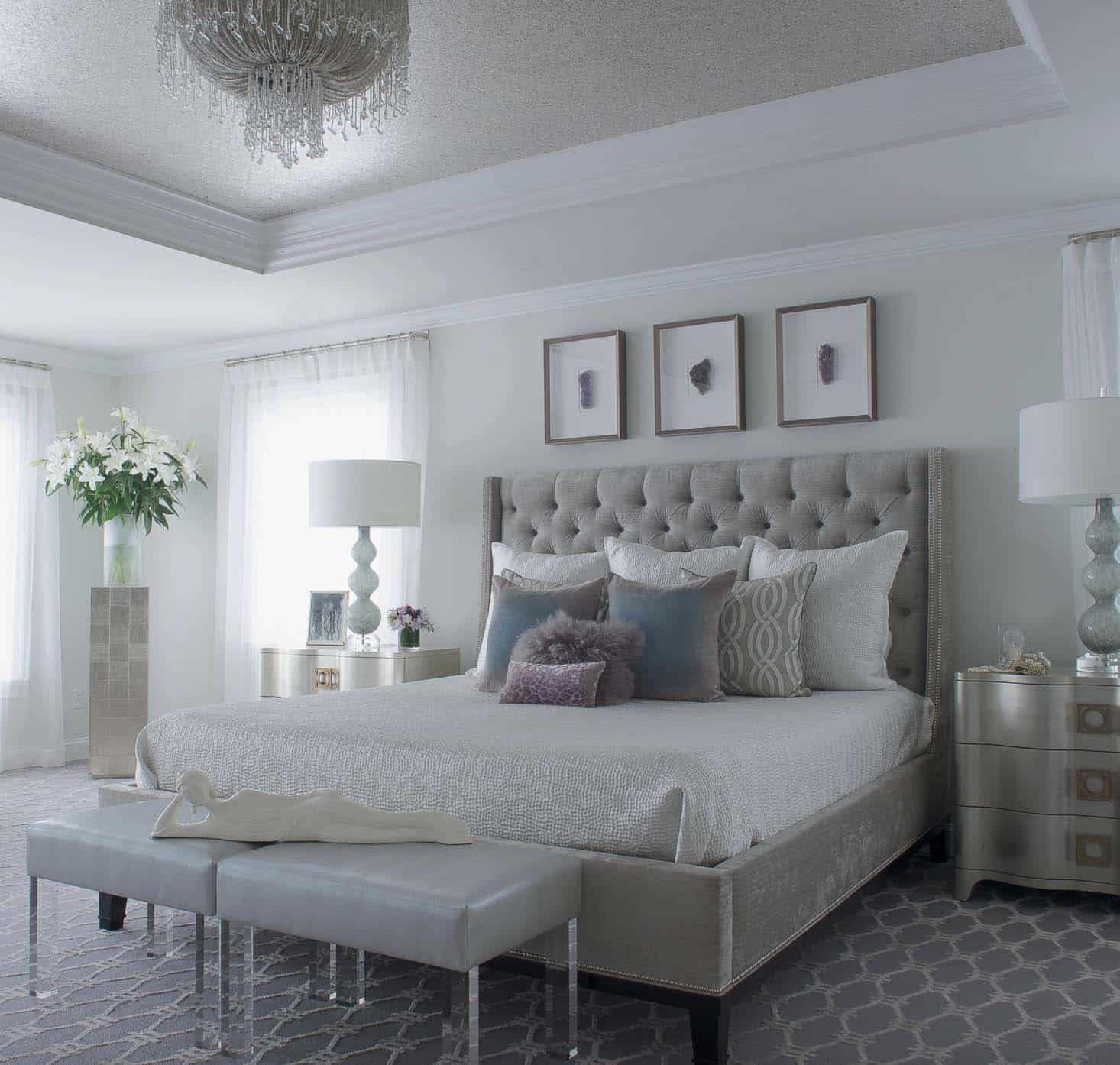 20 Serene And Elegant Master Bedroom Decorating Ideas Master Bedrooms Decor Elegant Master Bedroom Glam Bedroom Decor
