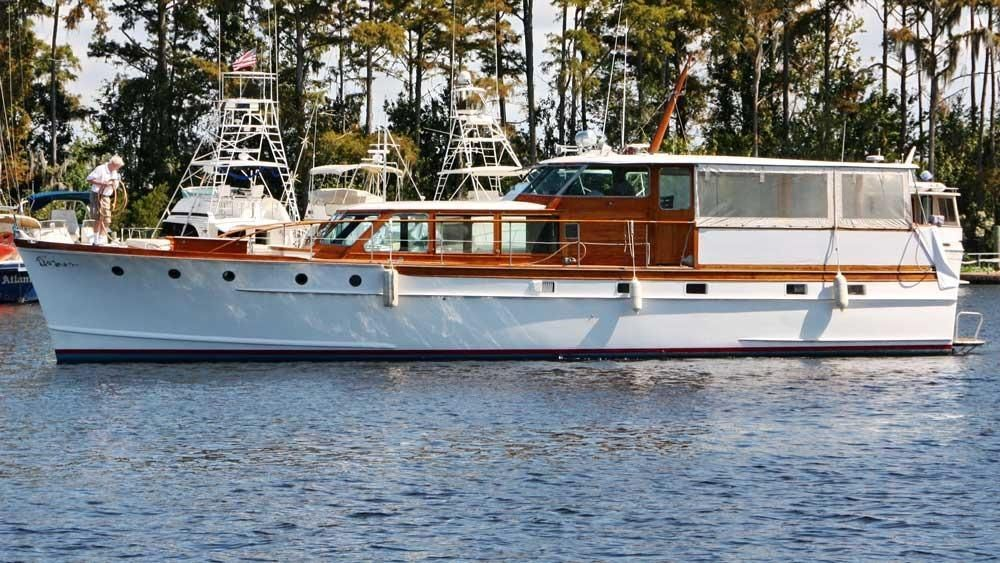 1958 Trumpy Flush Deck Cruiser Power Boat For Sale Www