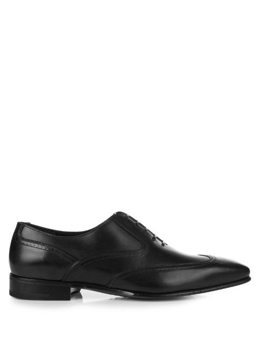 Salvatore ferragamo · SALVATORE FERRAGAMO Lacon Leather Oxford Shoes.