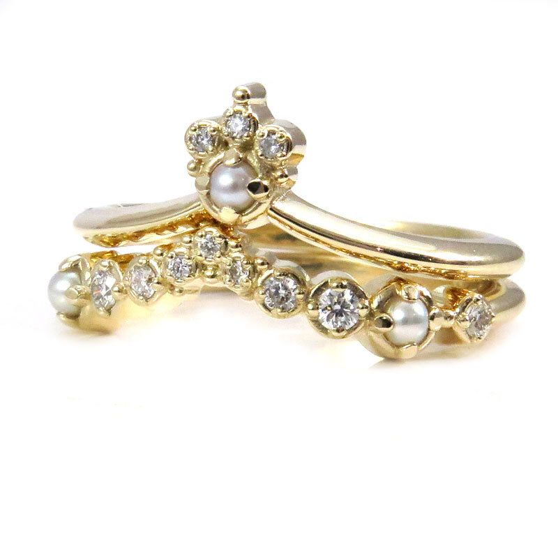 33+ Pearl wedding rings with diamonds information