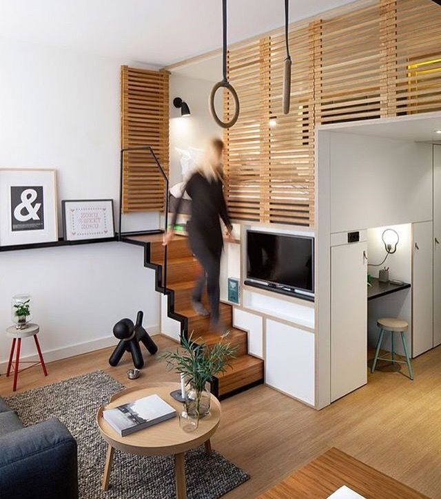 Small Loft Apartments: Pin By Pamela Ruppel On Homes: Bus, RV, Container Ideas
