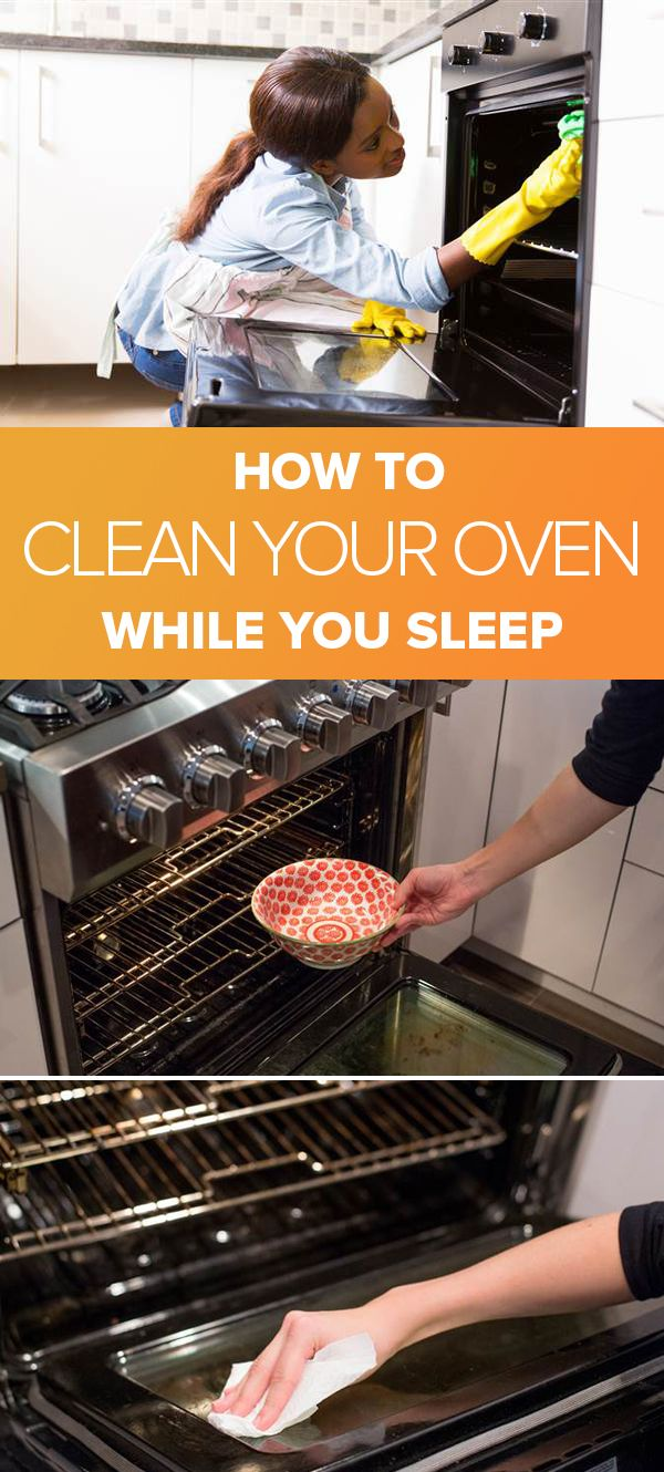clean your oven while you sleep with this 3 step hack home kitchen pinterest. Black Bedroom Furniture Sets. Home Design Ideas
