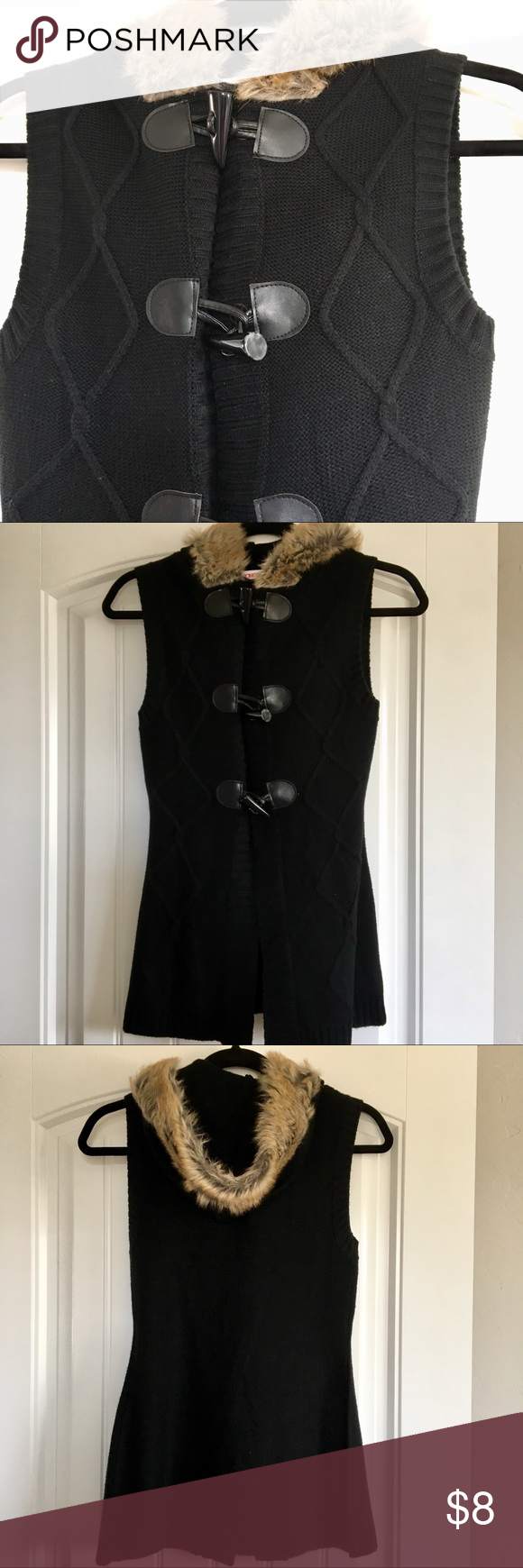 Flannel jacket with fur inside  Bongo Fur Lined Knit Hoodie Vest  My Posh Picks  Pinterest