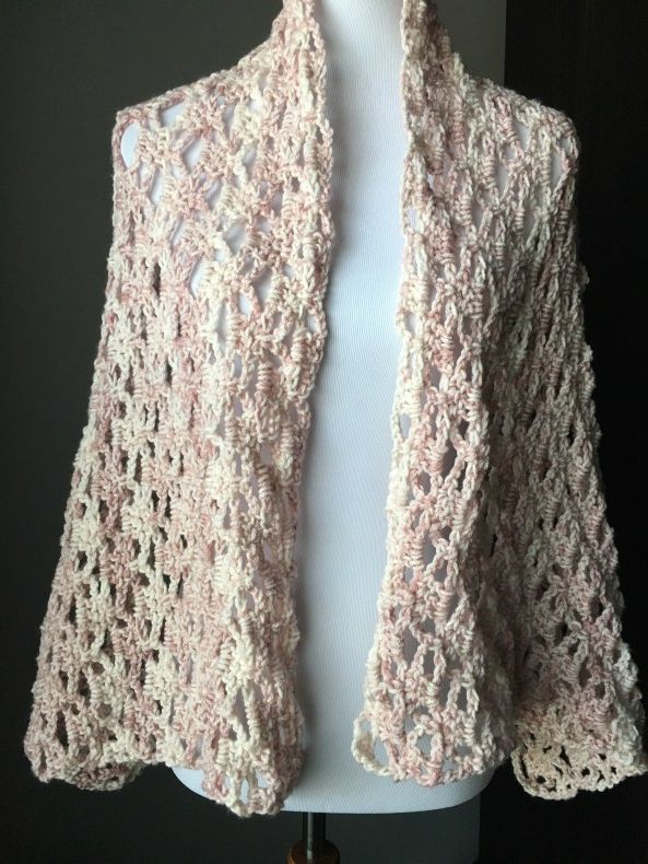 The Perfect Lacy Crochet Shawl with FREE Pattern! - YarnHookNeedles ...