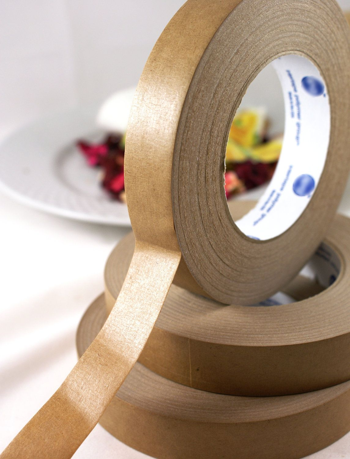 Large roll of 1 inch wide kraft paper masking tape for packaging brown paper jeuxipadfo Choice Image