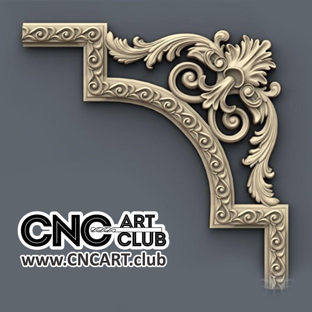 Corner 1005 Decorative Classic Corner Cnc Wood Working 3d