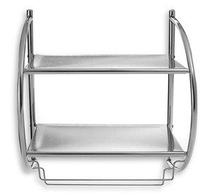 Bed Bath And Beyond Towel Rack Alluring Chrome Bathroom Shelf With Towel Bars  Powder Room  Pinterest Decorating Design