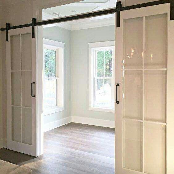 French Doors On Barn Door Track Glass Barn Doors Home
