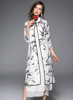 White Long Dress With Print Coat | Coats, Shops and For women