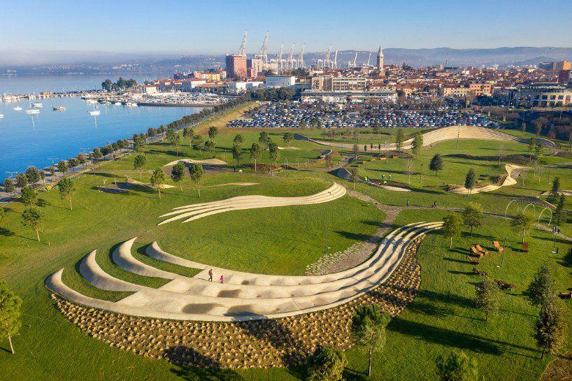 Enota Uses Organically Designed Urban Elements For Koper Central Park City Landscape Park Landscape