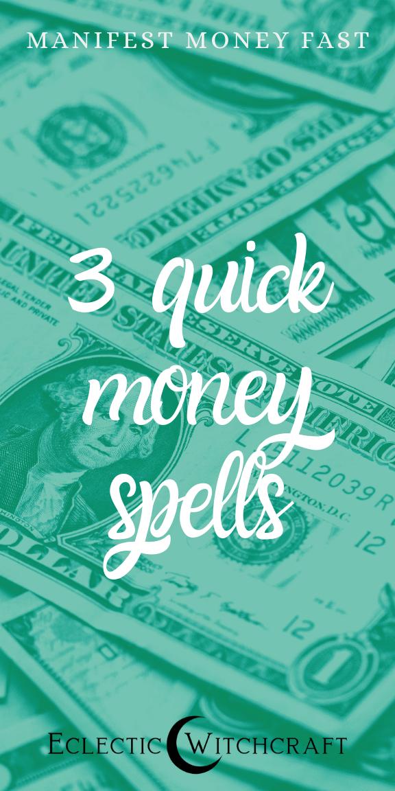 Three Easy Money Spells To Manifest Abundance #moneyspell