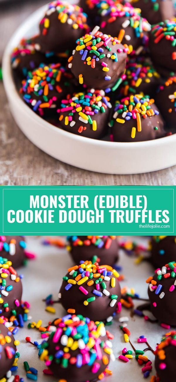 Monster (Edible) Cookie Dough Truffles