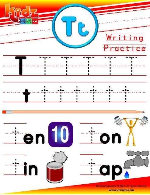 Letter T Phonics Worksheet HttpWwwEslkidzComPhonicsHtml