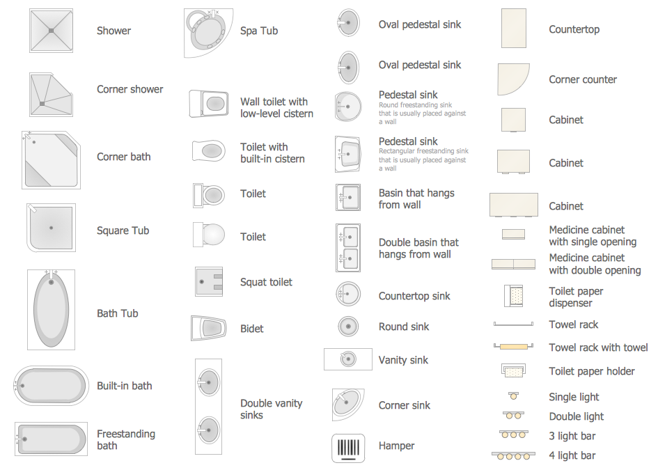 Pin By Conceptdraw On Building Plans Floor Plans Floor Plan Symbols Bathroom Floor Plans Floor Plan Design