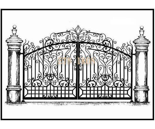 gorgeous iron main gate design in Gates from Home Improvement on  Aliexpress com. gorgeous iron main gate design in Gates from Home Improvement on