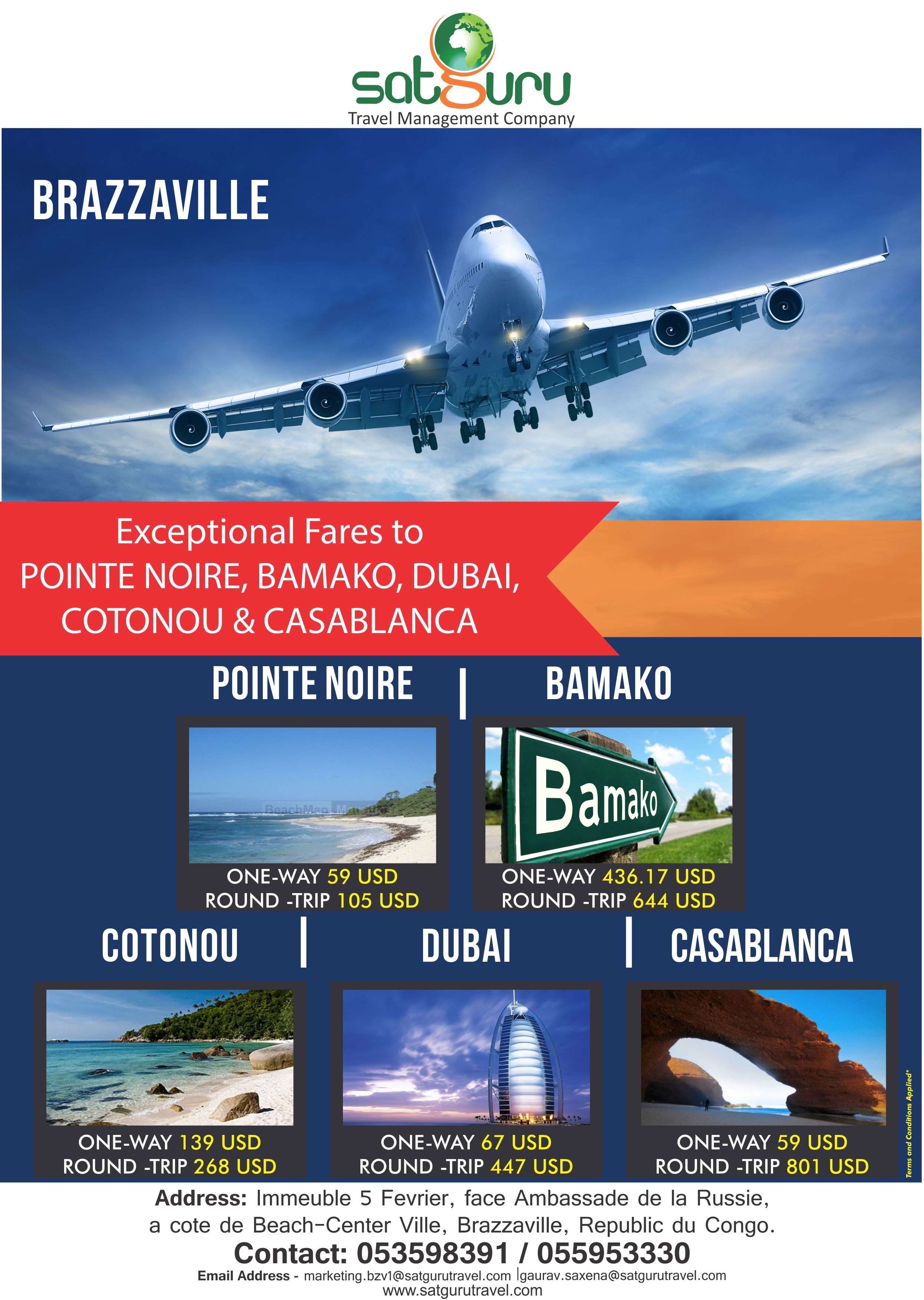 SATGURU TRAVELS PACKAGES  Travel packages Brazzaville