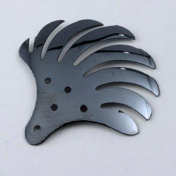 27mm Vintage Metallic Gunmetal Fan Sequin #566 50 pc