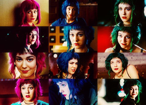 Ramona Flowers The Movie Version And Her Awesome Hair Colors Scott Pilgrim Scott Pilgrim Vs The World Ramona Flowers