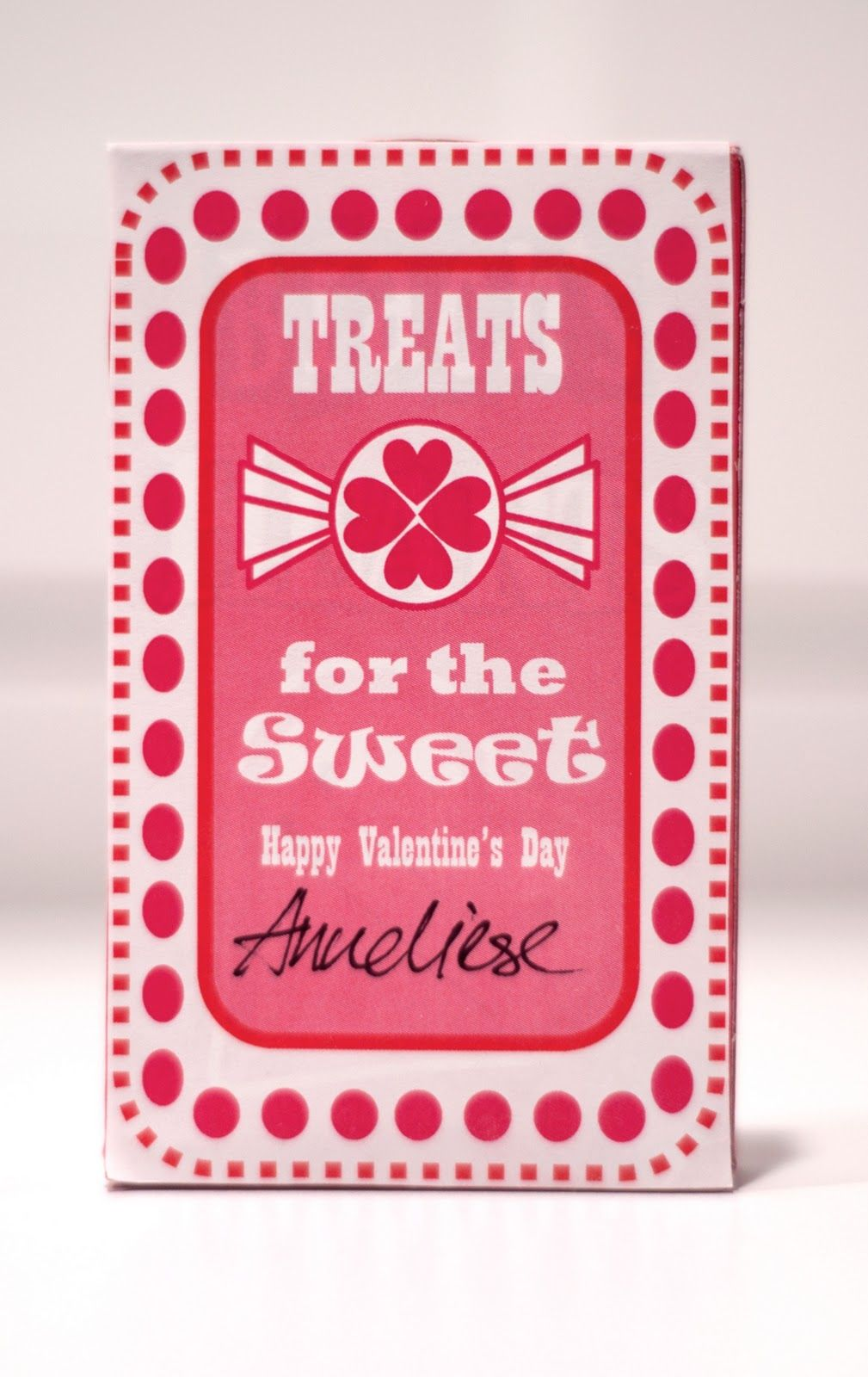 Aesthetic Nest: Cards: Valentine Candy Heart Box Labels ...