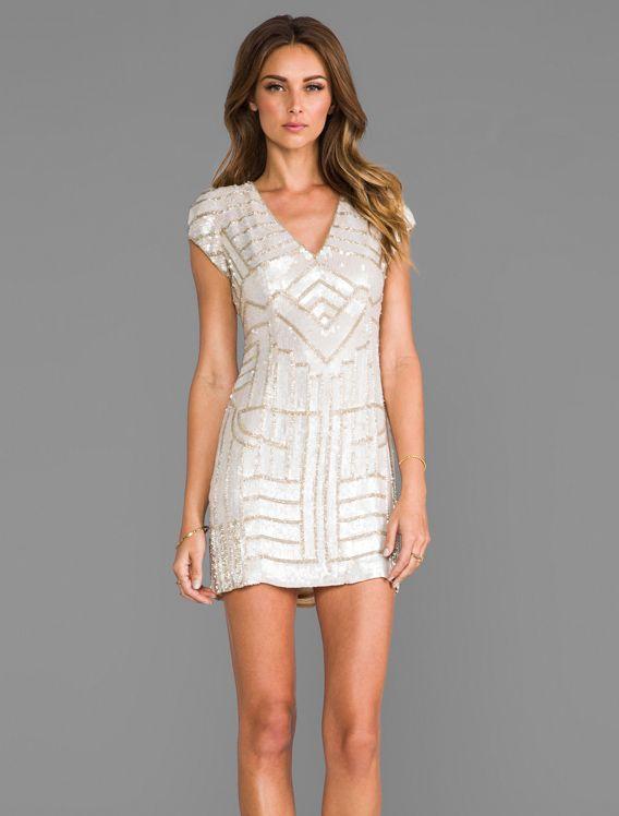 c540dccf1c55c Sequined white, winter cocktail dress. | Fashion | Fashion, Sequin ...