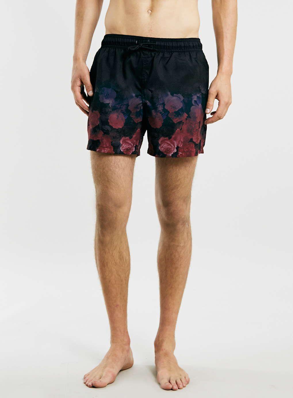 218779757b topman Black Faded Floral Swim Shorts | men's swimwear | Swim shorts ...