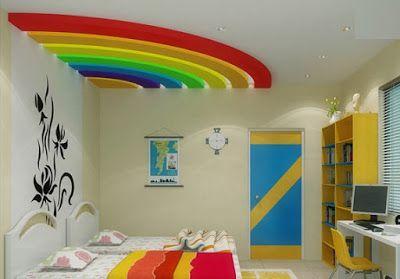 Kids Room False Ceiling Pop Designs  False Ceiling  Pinterest Best Living Room Pop Designs 2018
