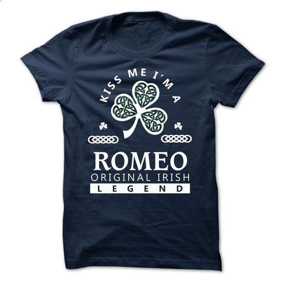 ROMEO - KISS ME I\M Team - #jean shirt #shirt print. I WANT THIS => https://www.sunfrog.com/Valentines/-ROMEO--KISS-ME-IM-Team.html?68278