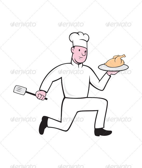 Realistic Graphic DOWNLOAD (.ai, .psd) :: http://hardcast.de/pinterest-itmid-1007941718i.html ... Chef With Chicken Spatula Running Cartoon ...  artwork, bird, cartoon, chef, chef hat, chicken, cockerel, cook, illustration, isolated, plate, rooster, running, spatula, white background  ... Realistic Photo Graphic Print Obejct Business Web Elements Illustration Design Templates ... DOWNLOAD :: http://hardcast.de/pinterest-itmid-1007941718i.html