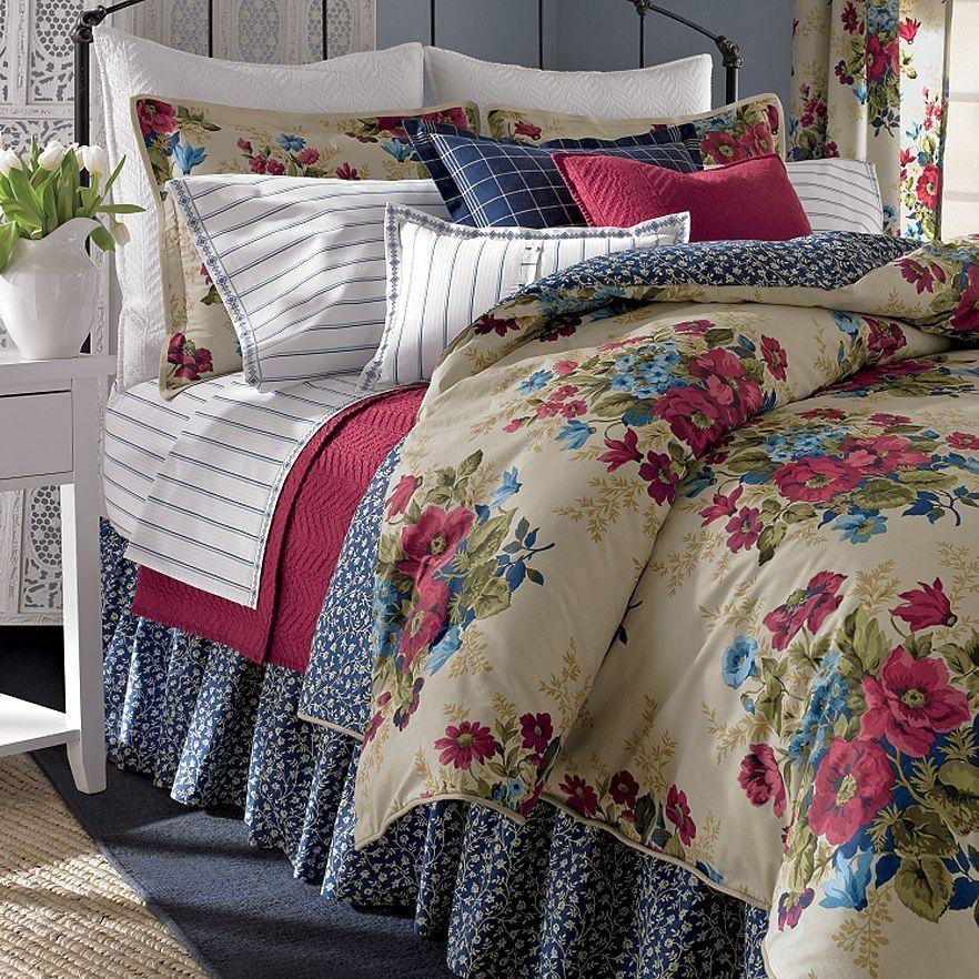 New Chaps By Ralph Lauren Claire 4 Pc Queen Comforter