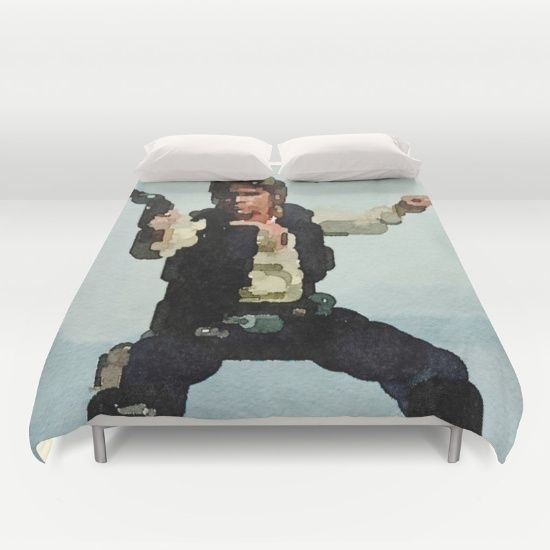 """SLEEP WITH HAN SOLO EVEY NIGHT! Star Wars Han Solo Comforter Cover. (""""solo shot first"""", blaster, """"star wars"""", """"use the force""""bed, bedroom, home decor, comforter, watercolor, fan art, painting, relax, dream, sleep, blue, Christmas gift ideas, Chanukah, discount, sales, deals)"""