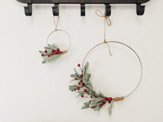 Berry Winter Christmas Minimalist Wreath Set|| Modern || Wreath || Wall Art || Holiday Decor || Wedd