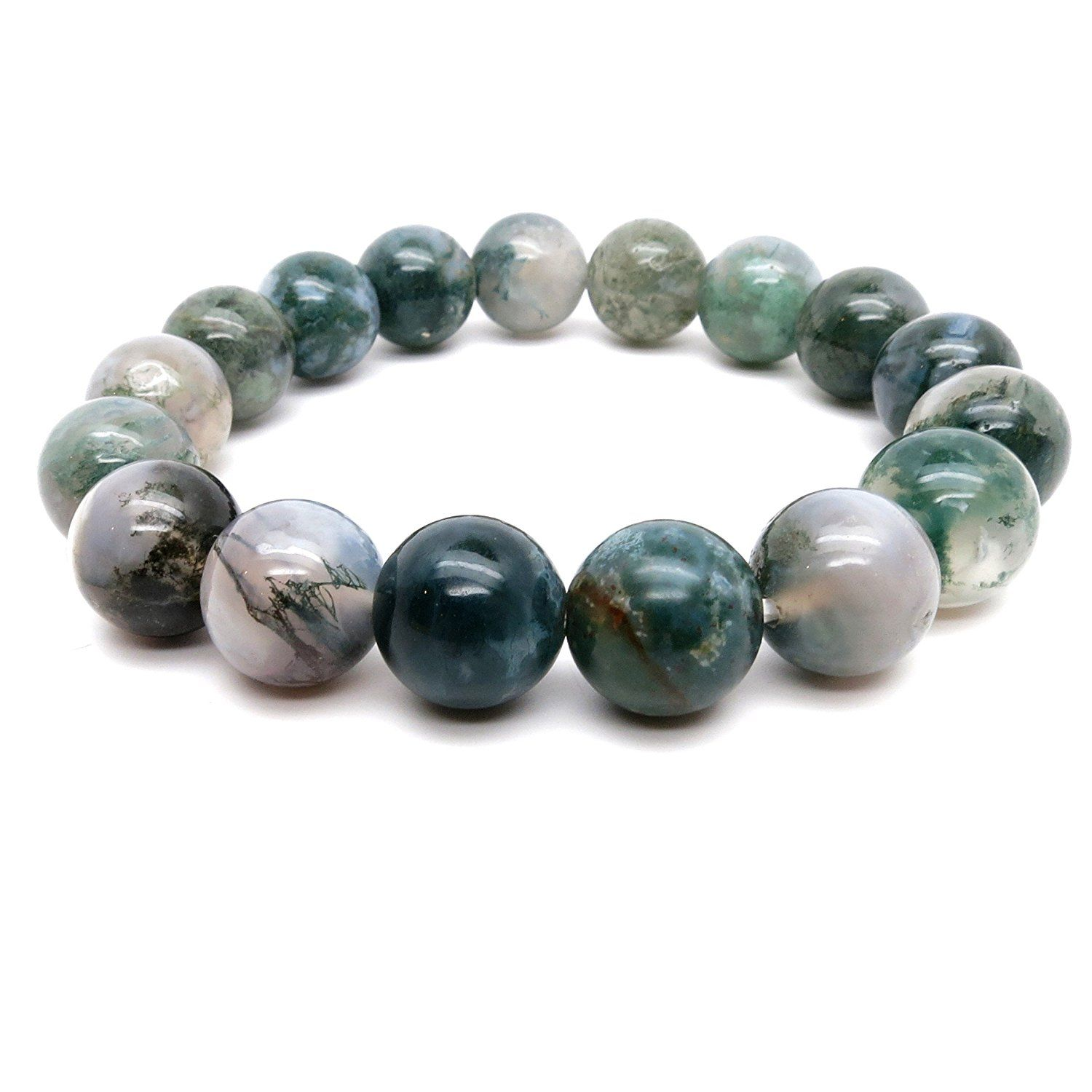 meditation gemstone genuine amazon round bloodstone com green crystal prayer bracelet stone jewelry energy dp boutique stretch red
