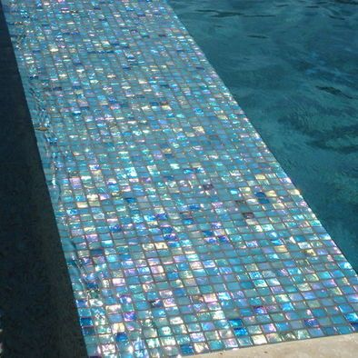 iridescent italian glass tile
