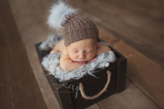 Christmas bobble hat newborn christmas prop by verityisabelle