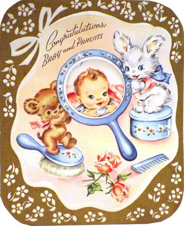 Vintage Baby Shower Card 1958 Cards Baby Pinterest Vintage