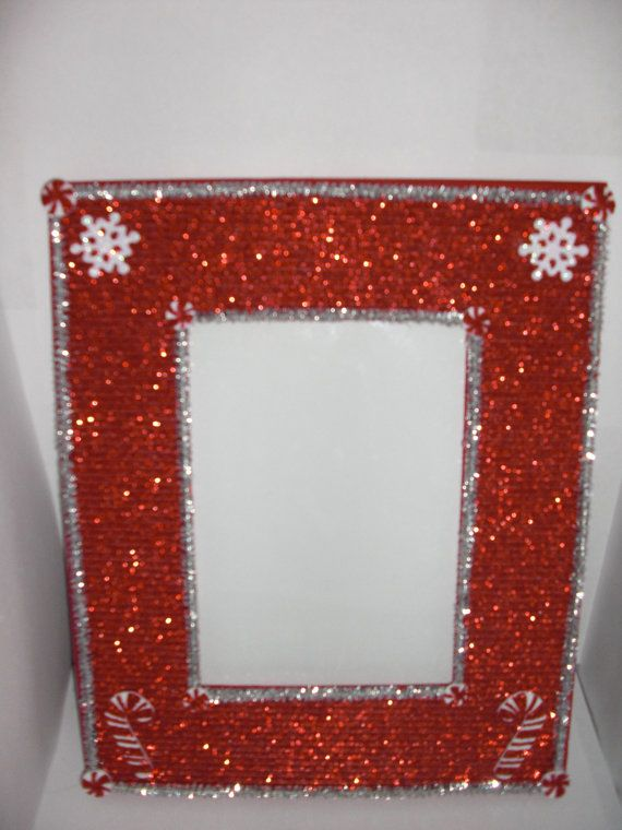Candy Cane Christmas Picture Frame Etsy Christmas Picture Frames Christmas Candy Cane Picture Frames