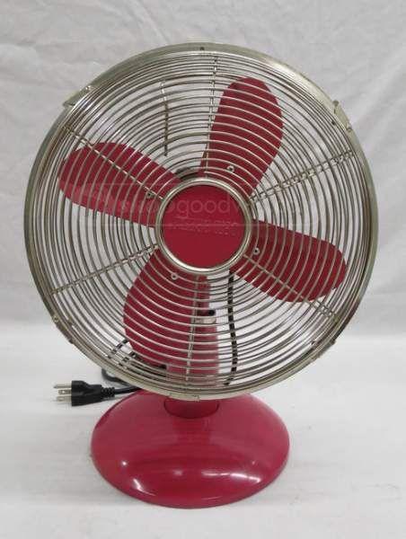Pink Retro Style Oscillating Tabletop Fan