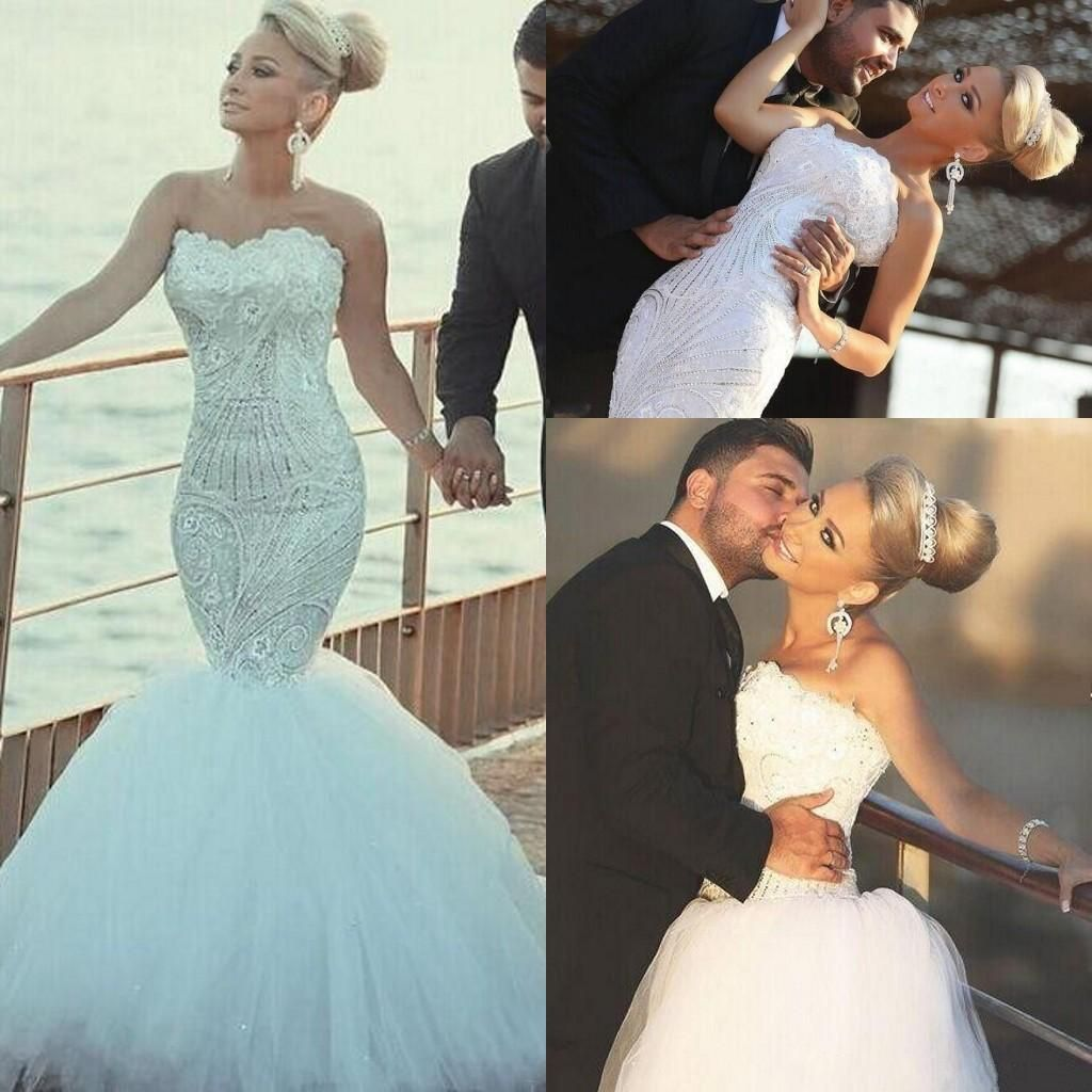 Gorgeous lace wedding dresses detachable over skirt train bling gorgeous lace wedding dresses detachable over skirt train bling beaded crystal mermaid bridal gowns vestido de ombrellifo Image collections