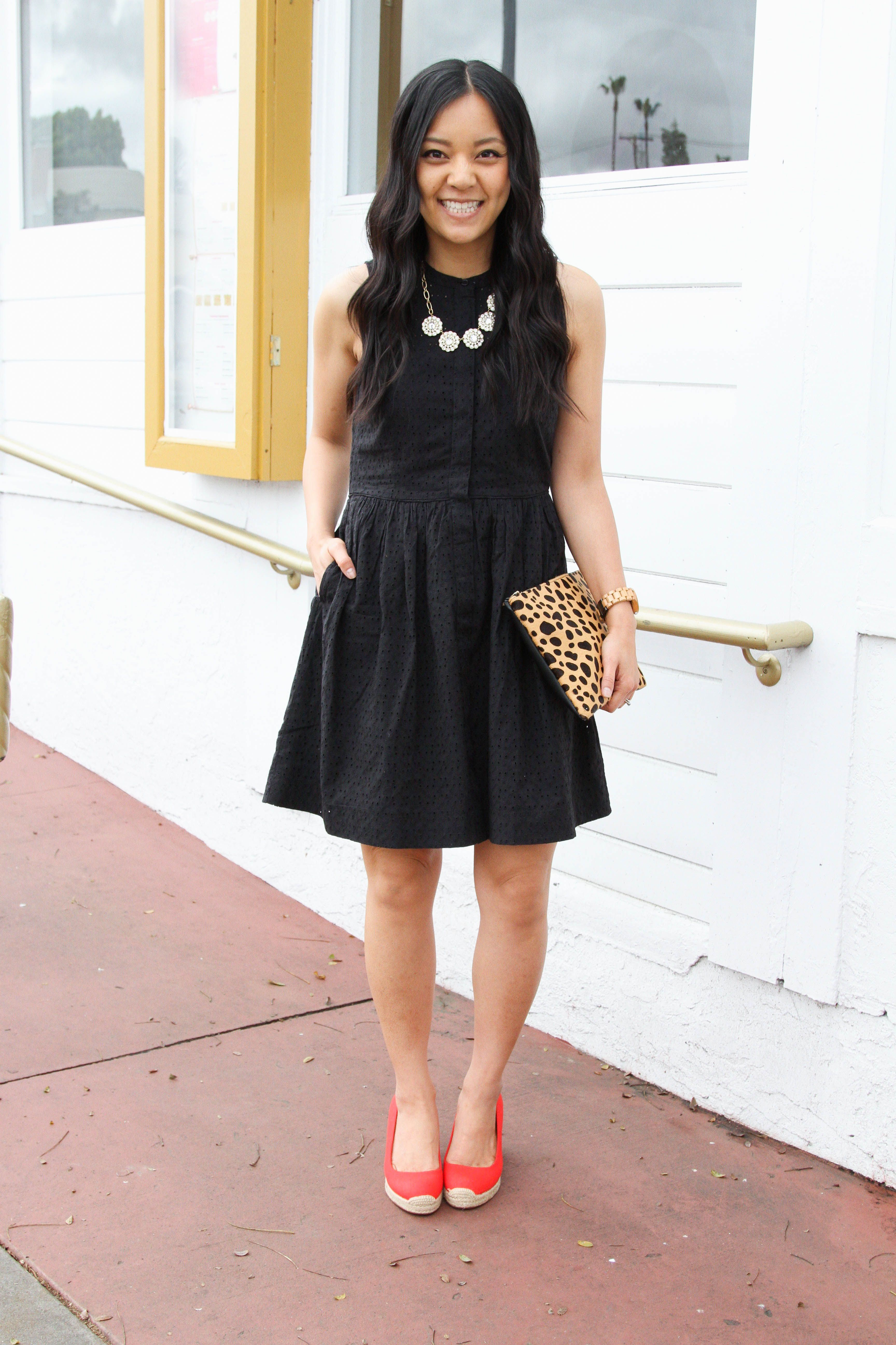 Three Outfit Ideas For Special Occasions And Celebrations Casual Dress Outfits Black Eyelet Dress Eyelet Dress Outfit [ 5184 x 3456 Pixel ]