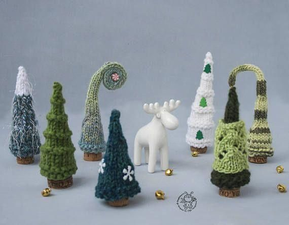 7 Pine Christmas Trees pdf patterns Decoration Xmas & New year Gift Forest Xmas Instant download Knitting pattern Knitted round Pine Tree : Pine Christmas Trees Christmas Ornament. Christmas Decoration #ChristmasDecoration#ChristmasTrees  #Pine #Christmas #Trees