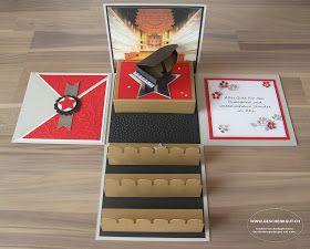 Geschenkbox Konzerttickets Konzertkarten Flügel #konzertkartenverpacken