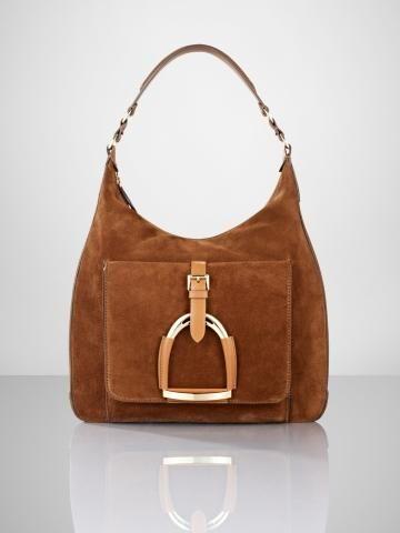 f0625d8728b2 Suede Stirrup Hobo - Ralph Lauren Handbags Handbags - RalphLauren.com
