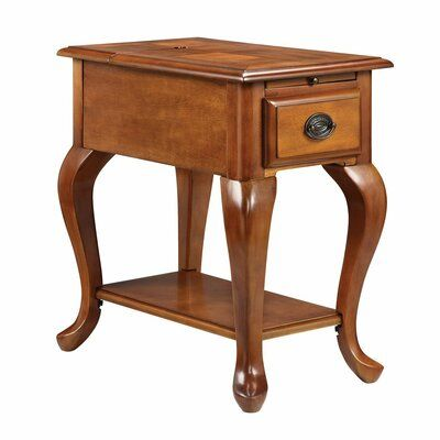Darby Home Co Montero End Table With Storage Colour Honey Oak