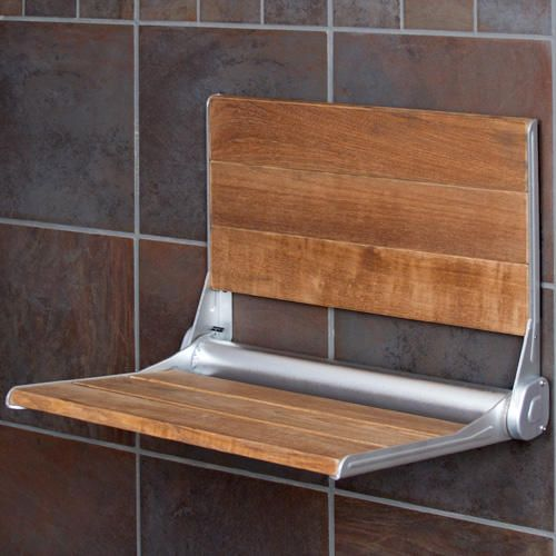 Teak Modern Folding Shower Seat | Bathroom Chairs, Stools & Benches ...