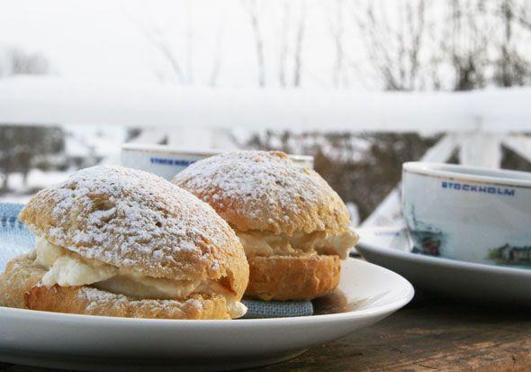 swedish semlor recipe from Sweden via @Skimbaco Lifestyle (Skimbacolifestyle.com)