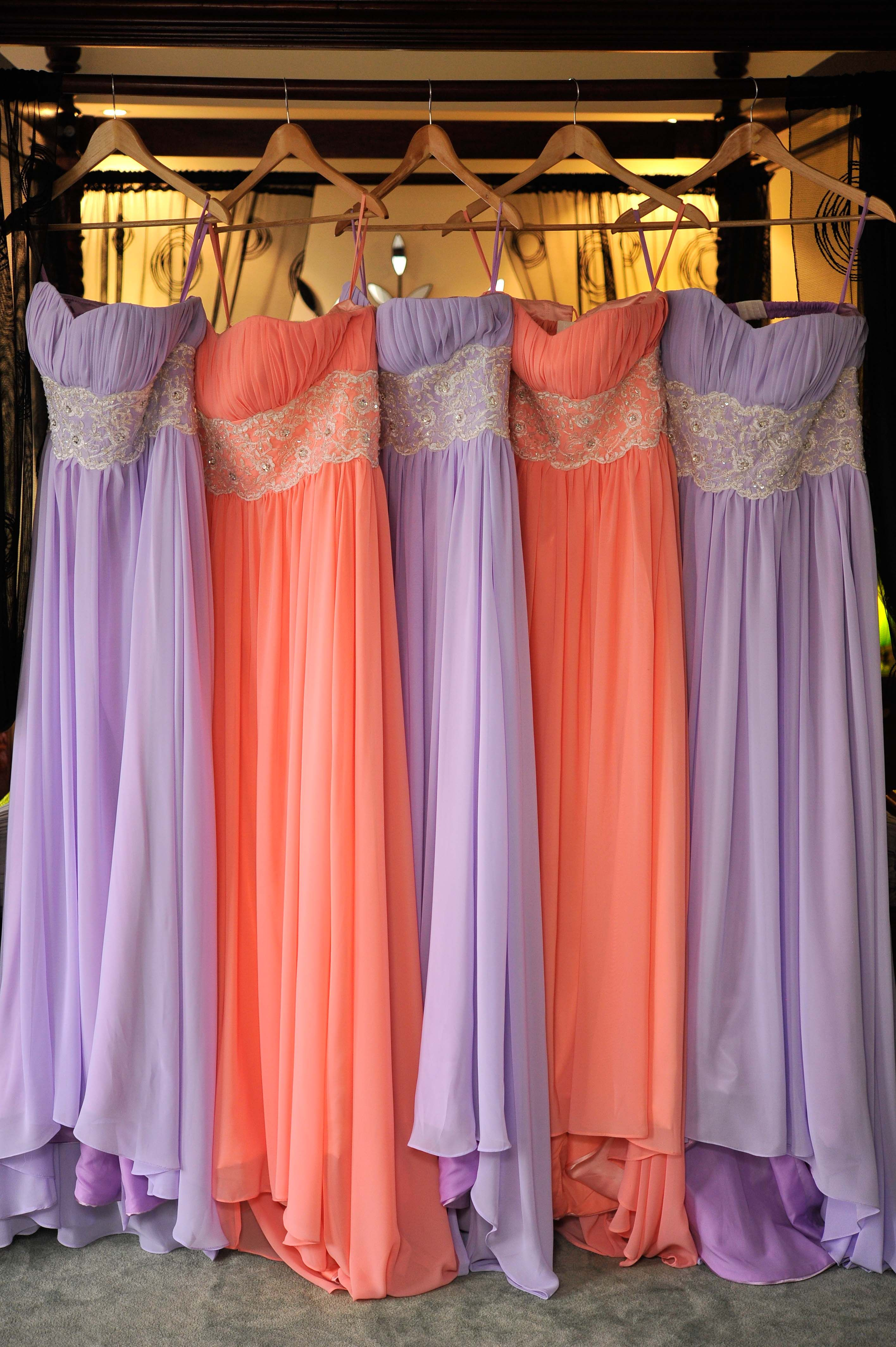 Dresses Purple And Coral Wedding Wedding Bridesmaids Dresses