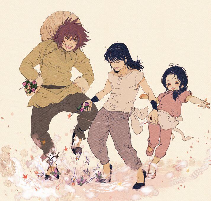 Young Dokko, Shiryu and Shunrei